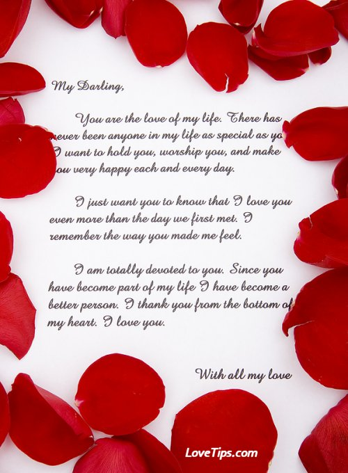 Love Letters  Love Letter Template For Him